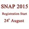 SNAP 2015 Registration starts today!!!