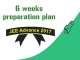 6 weeks preparation plan for JEE Advanced 2017
