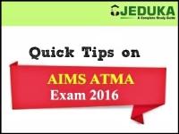 5 Quick Exam Tips for AIMS ATMA Exam tomorrow