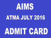 AIMS ATMA Exam 2016: Download admit cards now