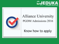Alliance University Bangalore PGDM Admissions 2016