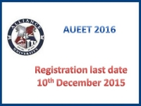 AUEET 2016 enrollments reached out till May 27
