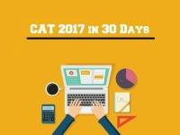 CAT 2017 in 30 Days