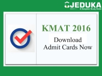 KMAT 2016 Admit Card Released:- Download Now