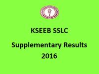 KSEEB SSLC Supplementary Results 2016
