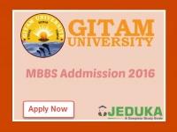 MBBS admissions 2016: GITAM University