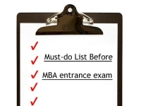 Must-do list before MBA entrance exam