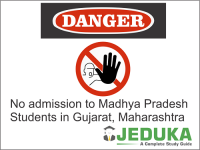 No admission to Madhya Pradesh Students in Gujarat, Maharashtra