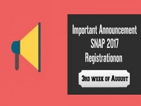 SNAP 2017 Important Notification: Registration will start on 3rd week of August