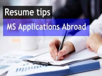 Things you must include in resume for MS application abroad