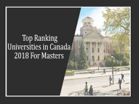 Top Ranking Universities in Canada 2018 to study Master Courses