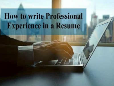 How to write Professional Experience in a Resume