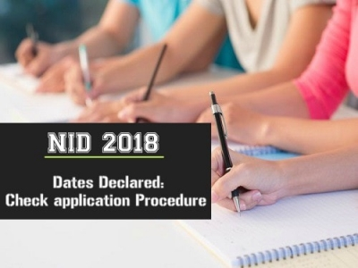 NID Entrance Examination 2018 Dates Declared: Check application Procedure