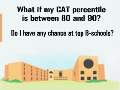 What if My CAT Percentile is Between 80 and 90? Do I Have Any Chance at Top B-schools?