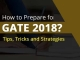 Quick Tips : How to Prepare for GATE 2018?