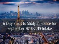 6 Easy Steps to Study in France for September Intake
