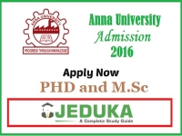 Apply now at Anna University PHD and MSc Programs