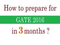 How to prepare for GATE in 3 months?