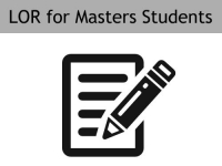 Letter of Recommendation for Masters Students