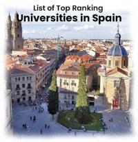 List of Top Ranking Universities in Spain 2019