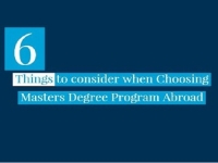 Things to consider when Choosing Masters Degree Program Abroad