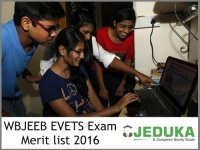 WBJEEB EVETS Exam 2016: Merit list on August 13