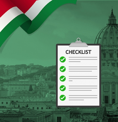Checklist Before going to Study in Italy