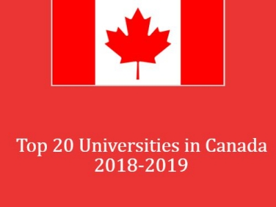 Top 20 Ranking Universities in Canada 2018-2019