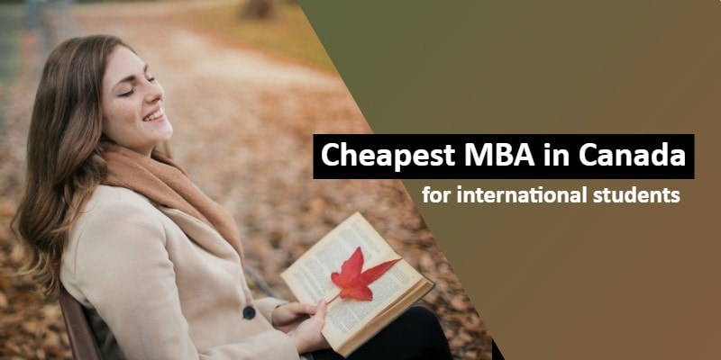 Cheapest Mba In Canada For International Students