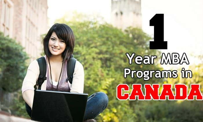 1 Year MBA in Canada